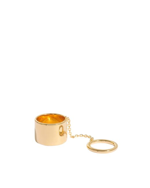 Elizabeth and James   Metallic Mies Articulated Ring   Lyst