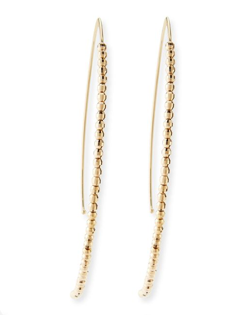 Mizuki | Metallic 14k Gold Beaded Marquise Drop Earrings | Lyst