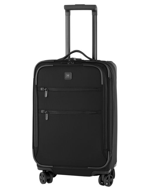 "Victorinox | Black Closeout! 50% Off Victorinox Lexicon 22"" Domestic Carry On Expandable Spinner Suitcase for Men 