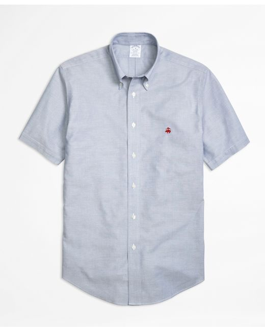 brooks brothers non iron regent fit short sleeve oxford