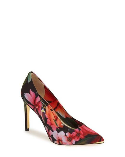 Ted Baker | Pink 'neevo' Pointy Toe Pump | Lyst