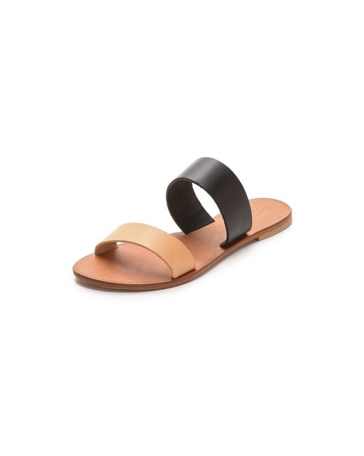 Joie | Black A La Plage Sable Two Band Sandals | Lyst