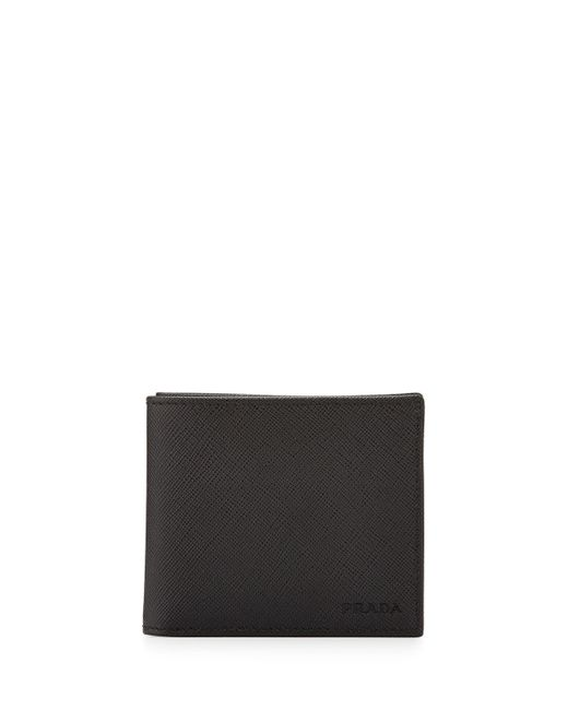 Prada | Black Saffiano Hipster Bifold for Men | Lyst