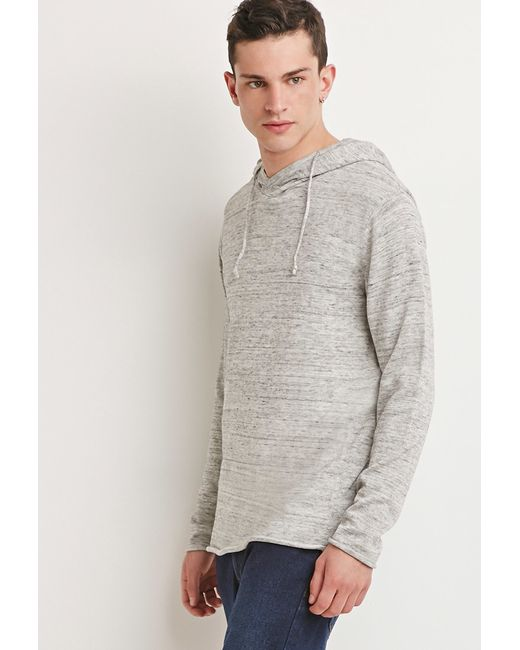 Forever 21   Natural Marled Knit Drawstring Hoodie for Men   Lyst