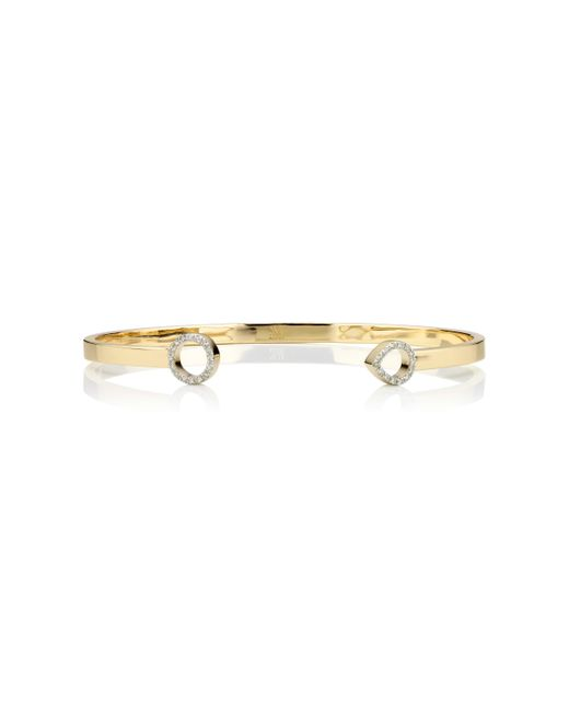 Monica Vinader | Metallic Naida Thin Open Cuff | Lyst