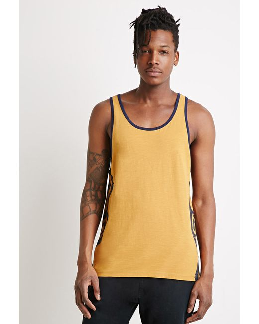 Forever 21 | Yellow Print Tank for Men | Lyst