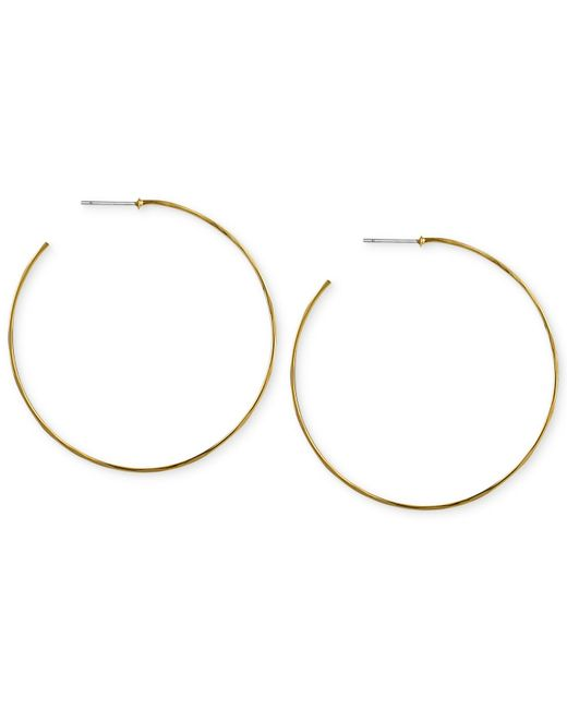 Robert Lee Morris | Metallic Gold-tone Large Hammered Wire Hoop Earrings | Lyst