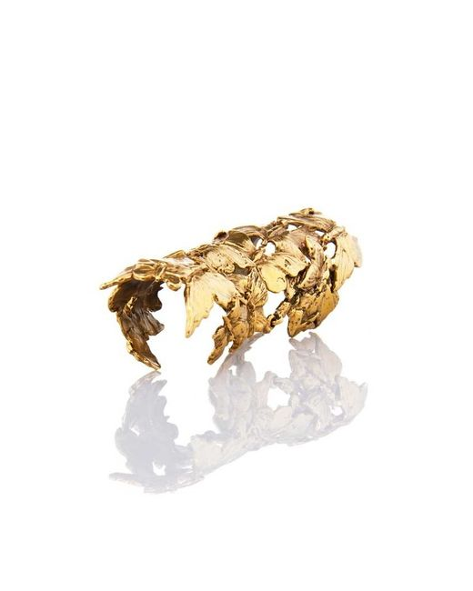 Bernard Delettrez | Metallic Articulated Butterflies Bronze Ring | Lyst