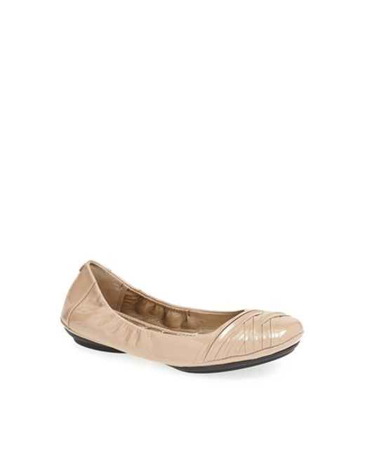 Me Too | Natural Fiona Leather Ballet Flats | Lyst