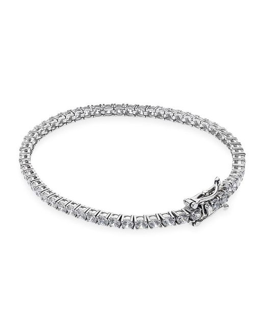 Carat* | Metallic Round Tennis Bracelet | Lyst