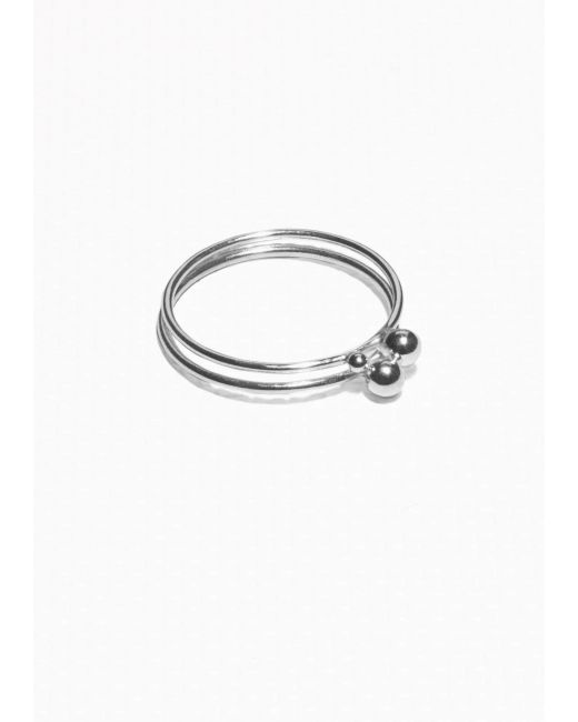 & Other Stories | Metallic Sterling Silver Ring Set | Lyst