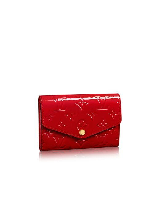 Louis Vuitton | Red Sarah Compact Wallet | Lyst