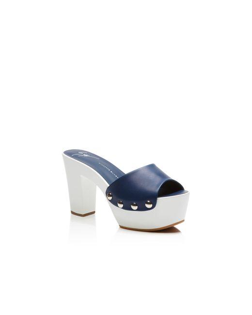 Giuseppe Zanotti | Blue Gladis High Heel Clog Platform Sandals | Lyst