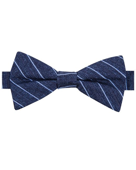 William Rast | Blue Silk Stripe Bowtie for Men | Lyst