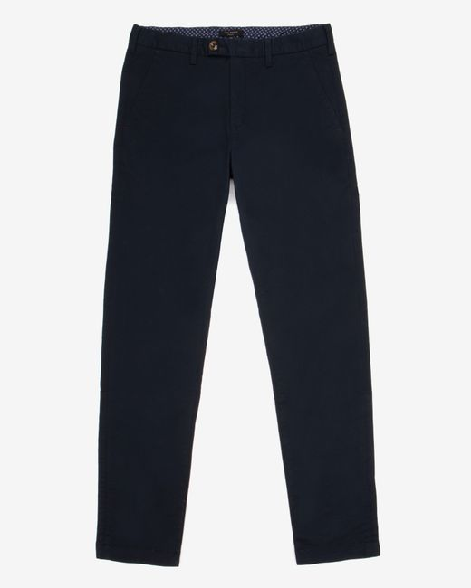 Ted Baker | Blue Tailored Fit Cotton Chinos for Men | Lyst
