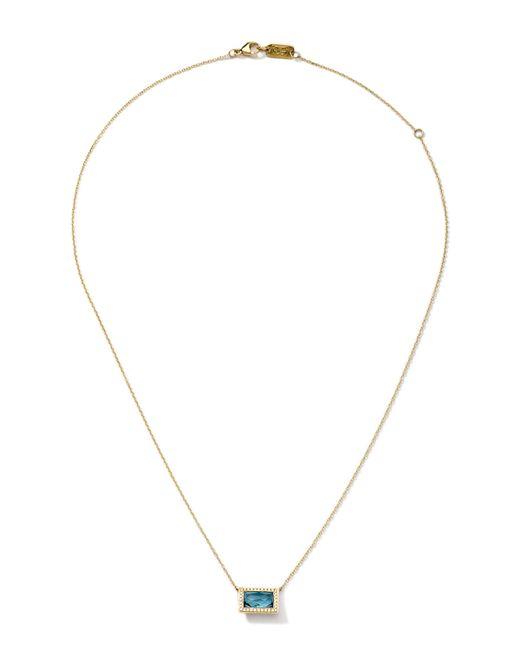 Ippolita | Metallic 18k Gold Gelato Medium Baguette Topaz Necklace With Diamonds | Lyst