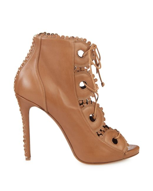 Tabitha Simmons | Brown Dakota Lace-Up Leather Boots | Lyst