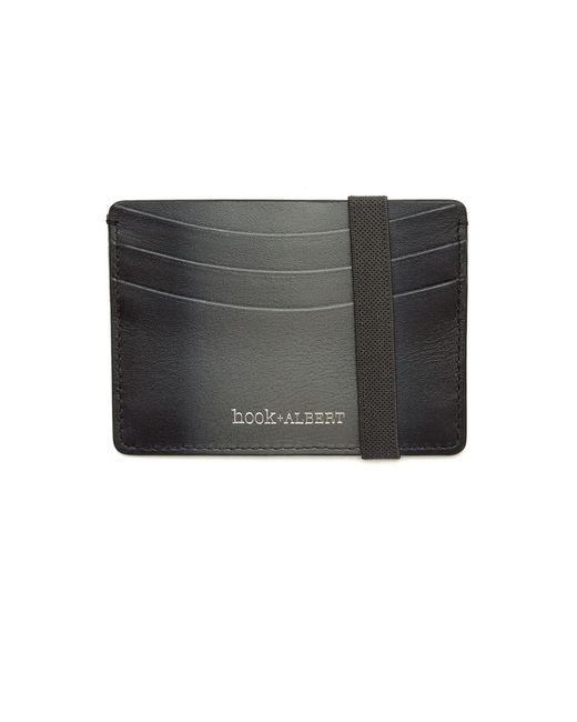 Hook + Albert | Gray Leather Cardholder for Men | Lyst