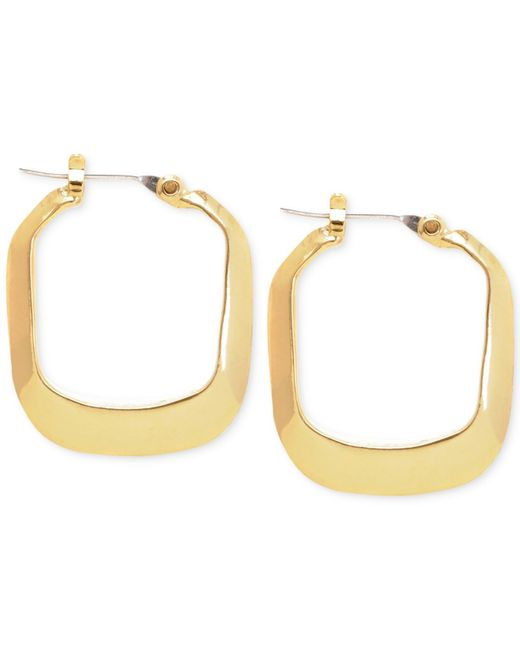 kenneth cole gold tone rectangle hoop earrings in gold lyst