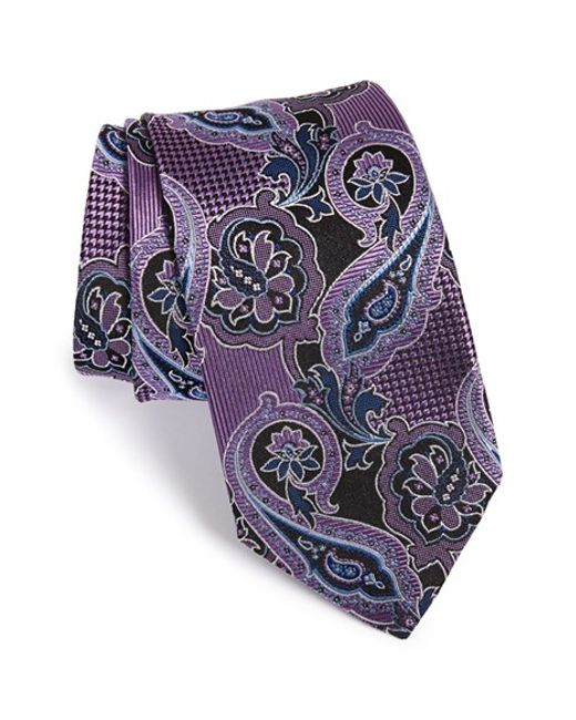 JZ Richards | Purple Paisley Woven Silk Tie for Men | Lyst