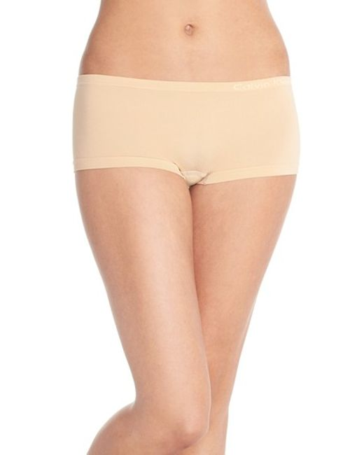 Calvin Klein | Natural Pure Seamless Boyshorts | Lyst