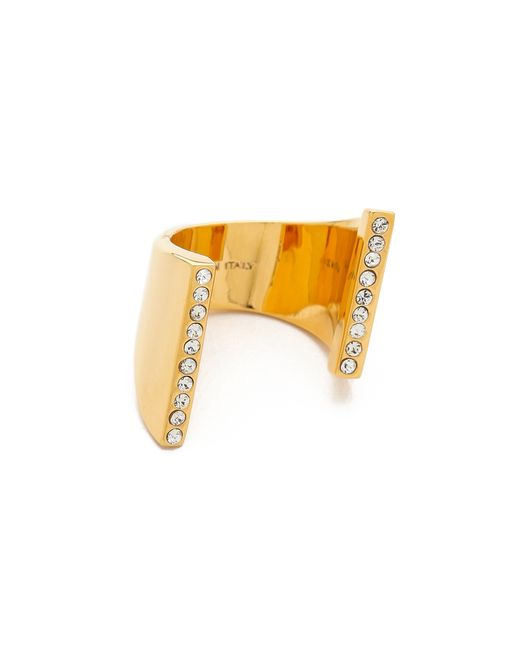 Vita Fede | Metallic Lia Double Crystal Ring | Lyst