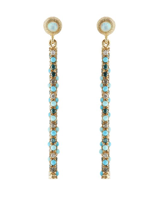Carolina Bucci | Blue Magic Wand 18kt Earrings With Turquoise, Opal And Diamonds - Gold | Lyst