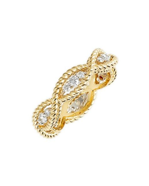 Roberto Coin | Yellow 'new Barocco' Diamond Band Ring | Lyst