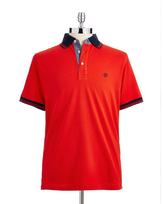 Bugatti | Red Knit Polo Shirt for Men | Lyst