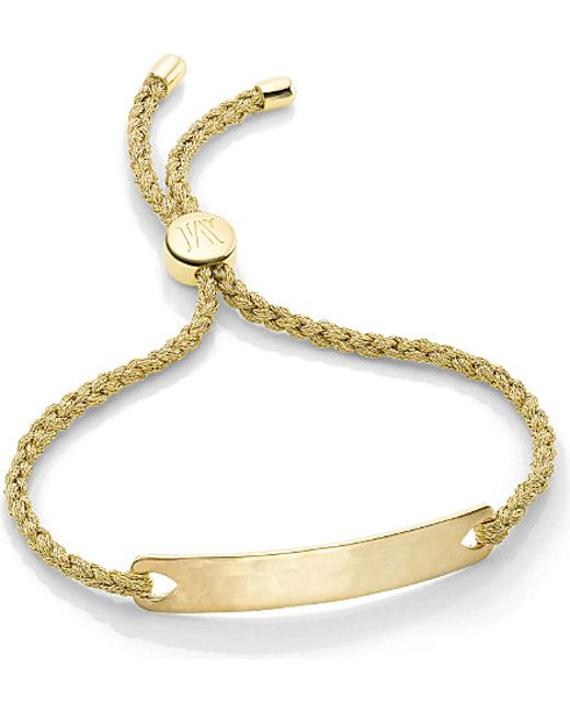 Monica Vinader | Metallic Havana 18ct Gold-plated Friendship Bracelet | Lyst