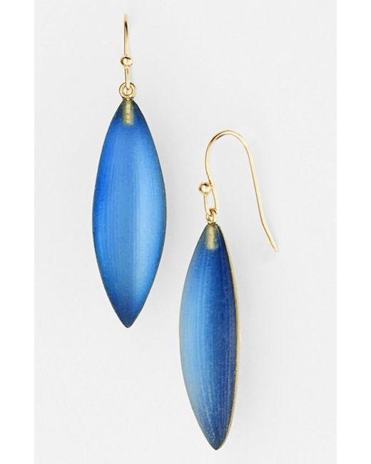 Alexis Bittar | Blue 'lucite - Neo Bohemian' Small Sliver Earrings - Aqua | Lyst