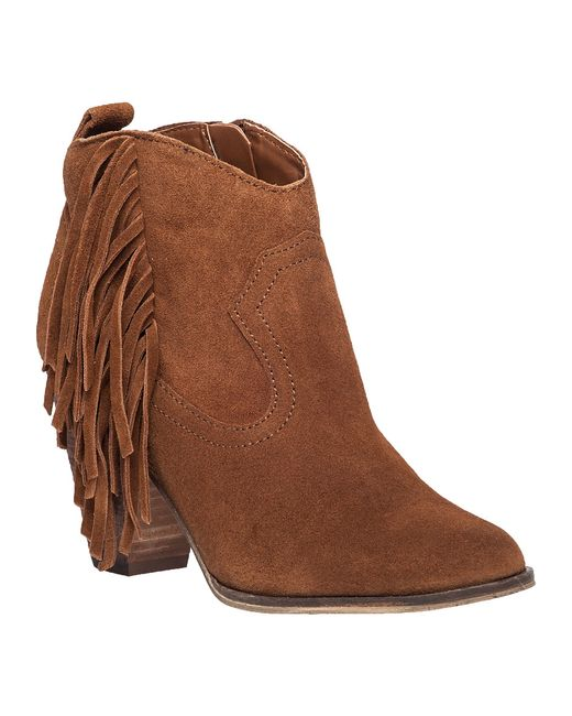 Steve Madden Ohio Suede Fringed Boots In Brown Lyst