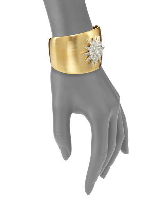 Kenneth Jay Lane | Metallic Stardust Cuff Bracelet | Lyst