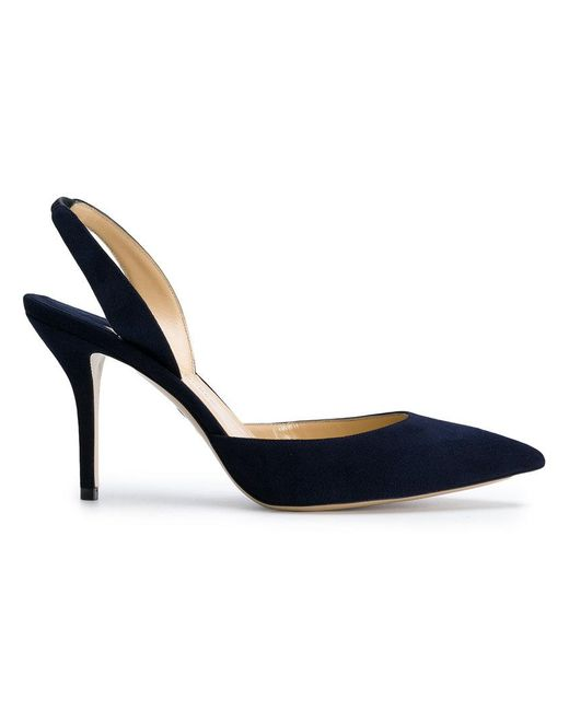 Paul Andrew - Blue Sling-back Pointed Pumps - Lyst