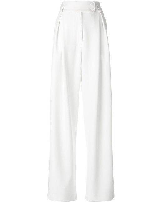 Styland - White Super Flared Trousers - Lyst
