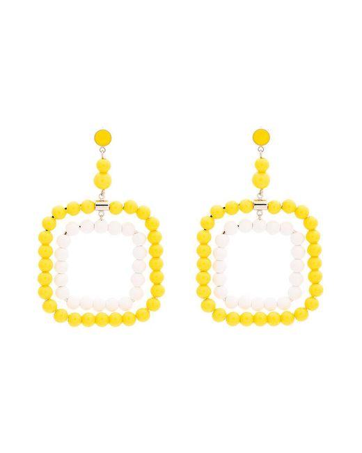 Marni - Multicolor Resin Beaded Rectangle Earrings - Lyst
