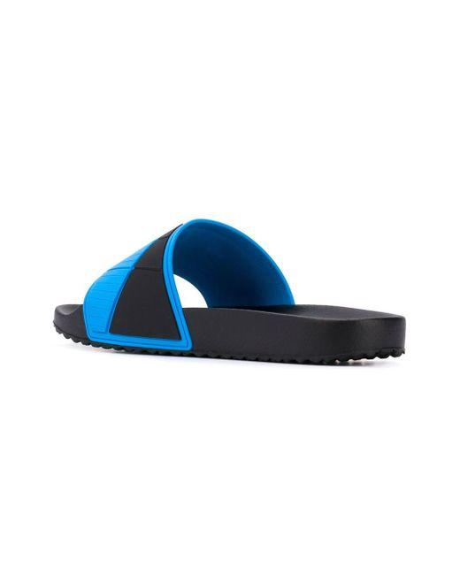 bce23991d ... Prada - Blue Шлепанцы С Логотипом for Men - Lyst ...