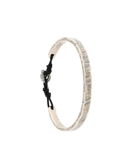 M. Cohen - Metallic Embossed Bracelet for Men - Lyst