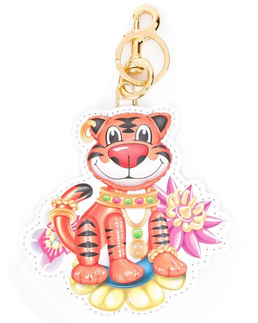 Moschino - Multicolor Jewelled Tiger Keyring - Lyst