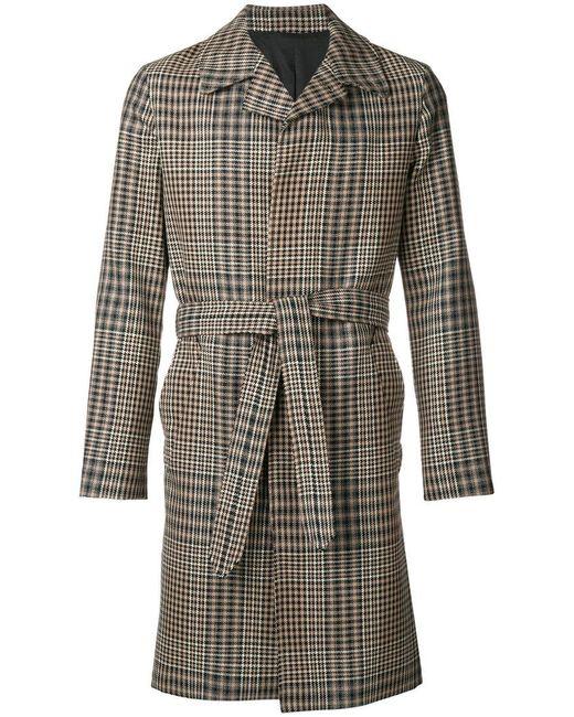 AMI - Black Tie-waist Front Button Coat for Men - Lyst