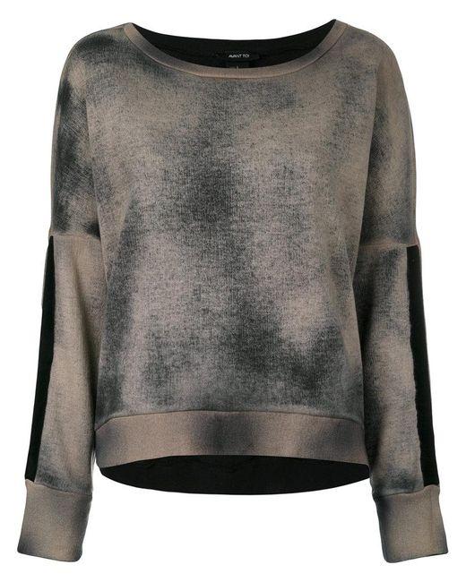 Avant Toi | Gray Tie Dye Sweater | Lyst