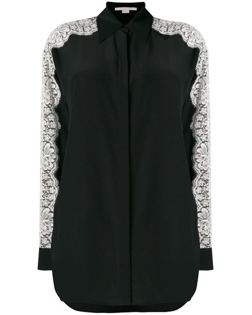 Stella McCartney Black Lace-embroidered Shirt