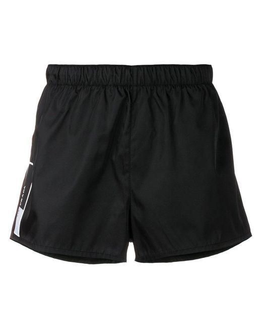 Prada - Black Logo Patch Swim Shorts for Men - Lyst