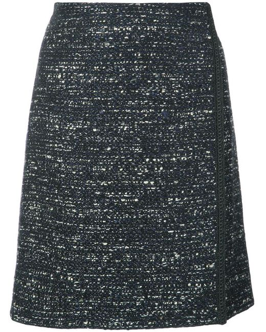 Adam Lippes - Black Mini Wrap Skirt - Lyst