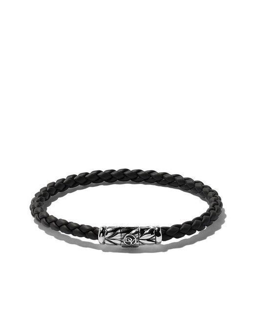 David Yurman - Black Chevron Weave Bracelet - Lyst