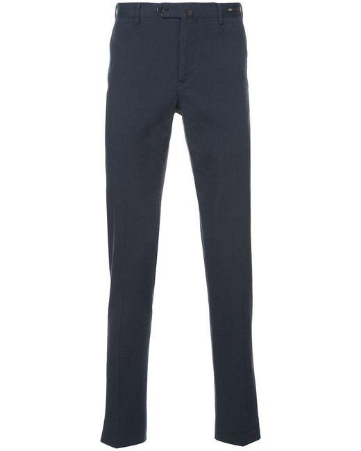 PT01 | Blue Stretch Canvas Slim Trousers for Men | Lyst