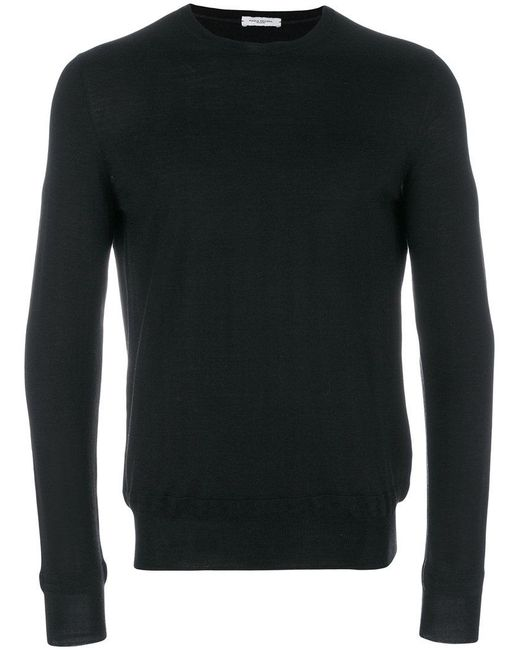 Paolo Pecora - Black Classic Knitted Sweater for Men - Lyst