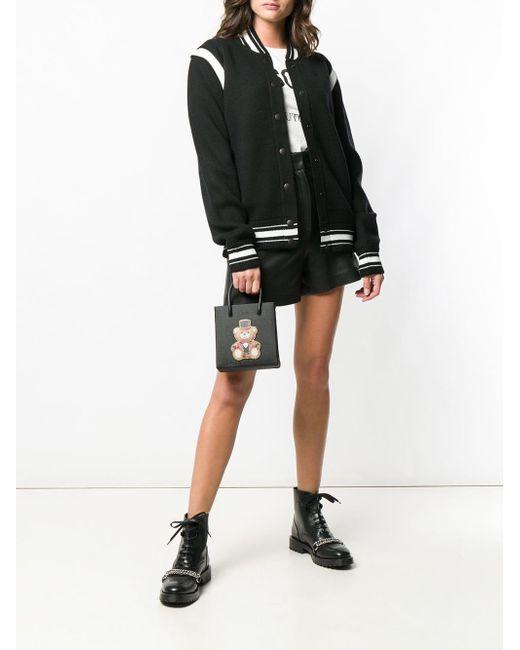 7bf3694871 Moschino Teddy Print Crossbody Bag in Black - Save 23% - Lyst