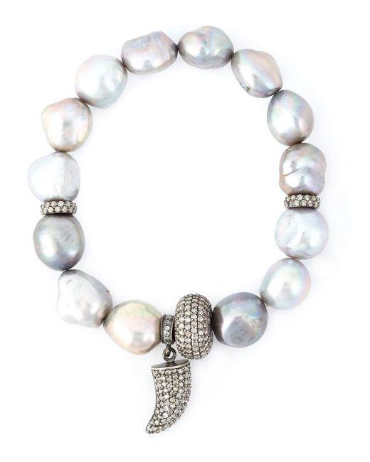 Loree Rodkin - Metallic Embellished Bracelet - Lyst
