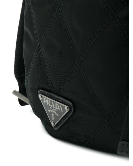 84b7150725ed4 ... sweden prada black quilted backpack for men lyst 0ca29 b9ae3